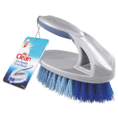 "Mr. Clean Iron Handle Brush, 6 1/2"" Brush, 1 1/2"" Bristles, Gray/Blue, 3/Box (BUT442402)"