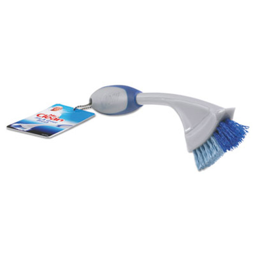 "Mr. Clean Tile & Grout Brush, 9"" Handle, 1"" Bristles, Gray/Blue, 3/Box (BUT442408)"