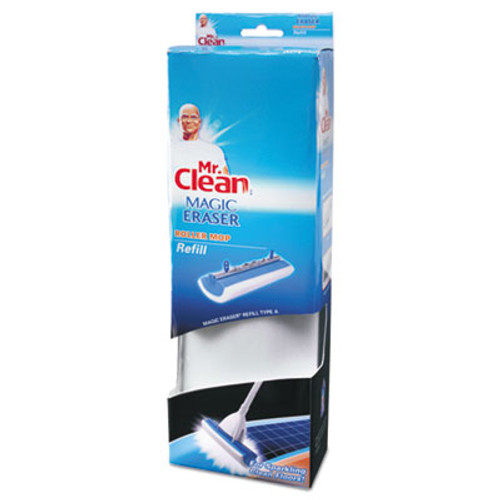 Mr. Clean Magic Eraser Roller Mop Refill, Foam, 11 1/2 x 3 3/4 x 2 1/4, White/Blue (BUT446841)