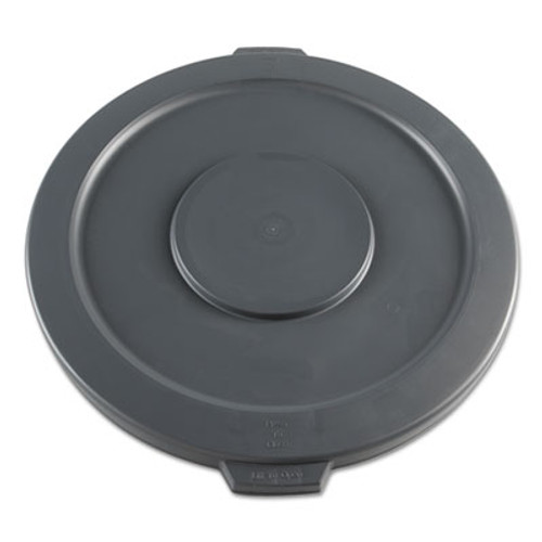 Boardwalk Lids for 32-Gal Waste Receptacle, Flat-Top, Round, Plastic, Gray (BWK32GLWRLIDG)