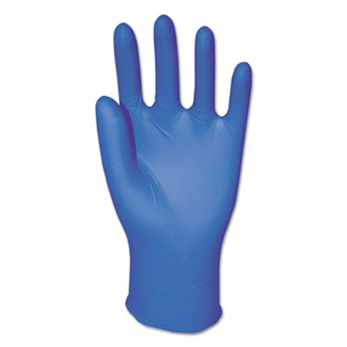 Boardwalk Disposable Powder-Free Nitrile Gloves, Medium, Blue, 5 mil, 100/Box (BWK395MBX)