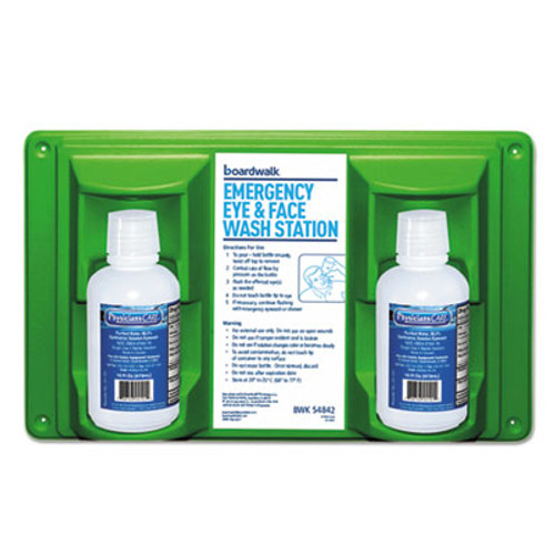 Boardwalk Emergency Eyewash Station, 16 oz Bottle, 2 Bottles/Station (BWK54842)