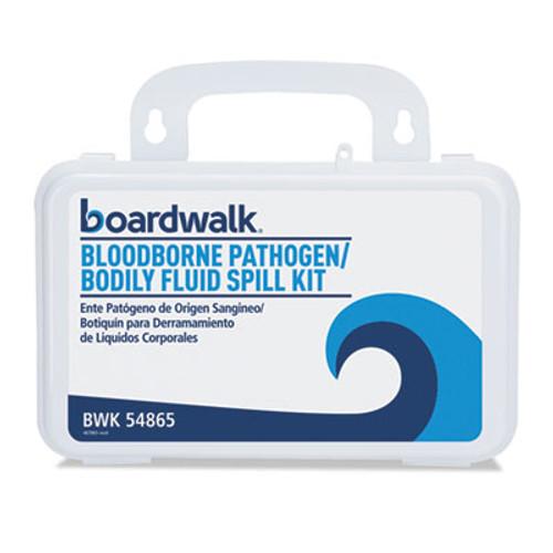 """Boardwalk Bloodborne Pathogen Kit, 30 Pieces, 3"""" x 8"""" x 5"""", White (BWK54865)"""