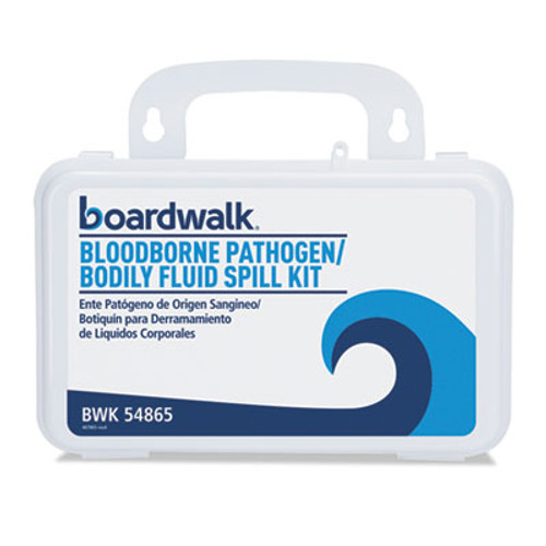 "Boardwalk Bloodborne Pathogen Kit, 30 Pieces, 3"" x 8"" x 5"", White (BWK54865)"