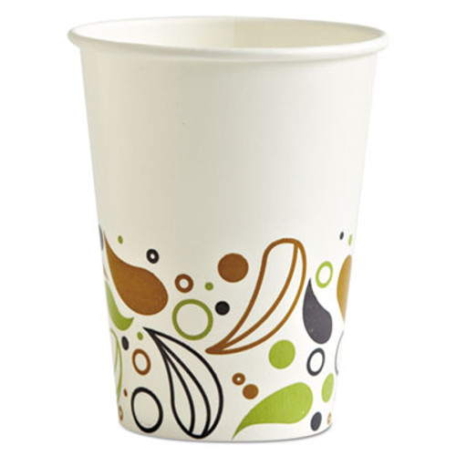 Boardwalk Deerfield Printed Paper Cold Cups, 12 oz, 50 Cups/Pack, 20 Packs/Carton (BWKDEER12CCUP)