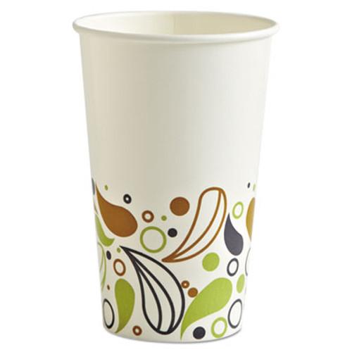 Boardwalk Deerfield Printed Paper Cold Cups, 16 oz, 50 Cups/Pack, 20 Packs/Carton (BWKDEER16CCUP)