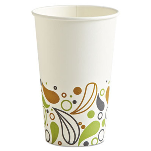 Boardwalk Deerfield Printed Paper Hot Cups, 16 oz, 50 Cups/Pack, 20 Packs/Carton (BWKDEER16HCUP)