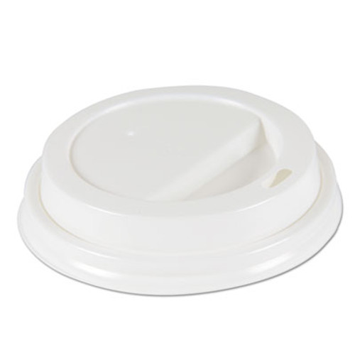 Boardwalk Deerfield Hot Cup Lids for 10oz - 16oz Cups, White, Plastic, 50/PK, 20 PK/Carton (BWKDEERHLIDW)