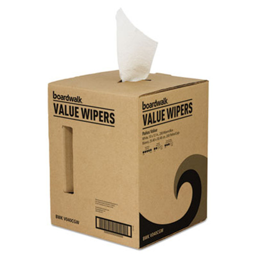Boardwalk DRC Wipers, White, 10 x 12, Centerpull, 200/Box (BWKV040CGW)
