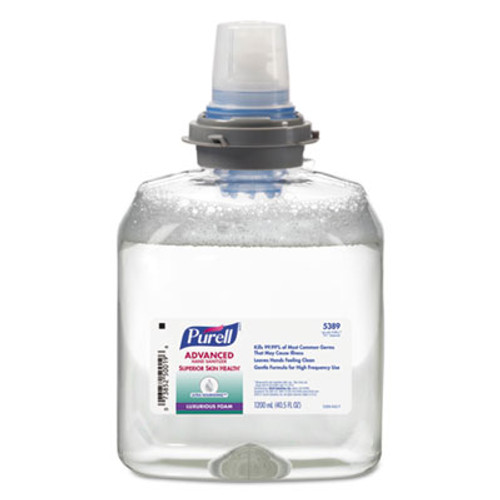 PURELL Advanced Hand Sanitizer Ultra Nourishing Foam, 1200 mL Refill, 2/Carton (GOJ190902CT)