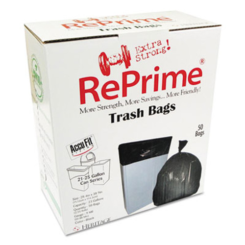 AccuFit Can Liners, Prime Resin, 45 x 28, 23 gal, 0.9 mil, 300/Carton (HERH5645TKRC1CT)