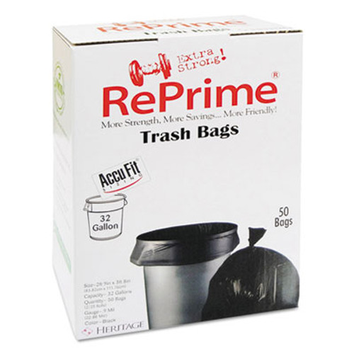 AccuFit Can Liners, Prime Resin, 44 x 33, 32 gal, 0.9 mil, 300/Carton (HERH6644TKRC1CT)