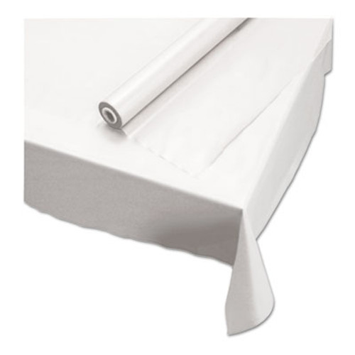 """Hoffmaster Plastic Roll Tablecover, 40"""" x 100 ft, White (HFM113000)"""
