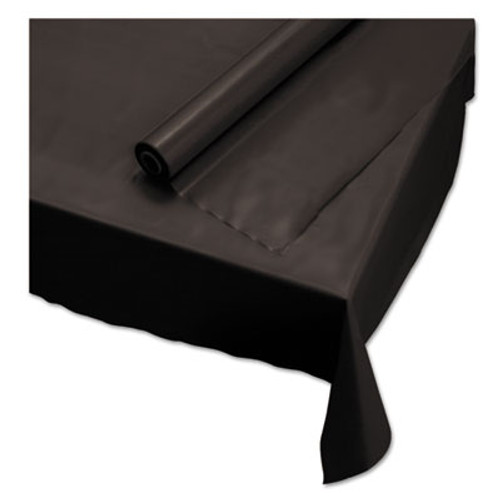 "Hoffmaster Plastic Roll Tablecover, 40"" x 100 ft, Black (HFM113003)"