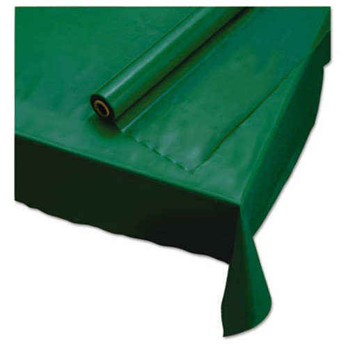 "Hoffmaster Plastic Roll Tablecover, 40"" x 100 ft, Hunter Green (HFM113005)"