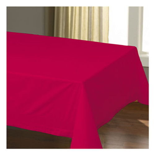 """Hoffmaster Cellutex Table Covers, Tissue/Polylined, 54"""" x 108"""", Red, 25/Carton (HFM220611)"""