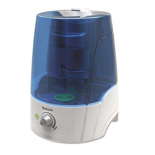 Holmes Ultrasonic Filter-Free Humidifier, 2 Gallon Output, 16w x 10d x 24h, White (HLSHM2610TUM)
