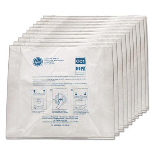 Hoover Disposable Vacuum Bags, Hepa CC1, 10/Carton (HVRAH10363)