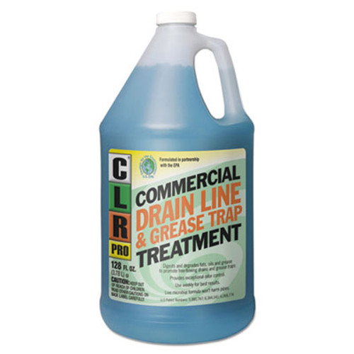 CLR Commercial Drain Line & Grease Trap Treatment, 1 gal Bottle (JELGRT4PRO)
