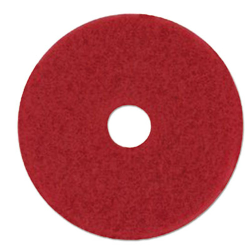 "3M Low-Speed Buffer Floor Pads 5100, 28"" x 14"", Red, 10/Carton (MMM59065)"