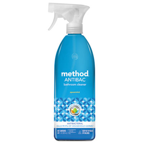 Method Antibacterial Spray, Bathroom, Spearmint, 28 oz Bottle, 8/Carton (MTH01152CT)