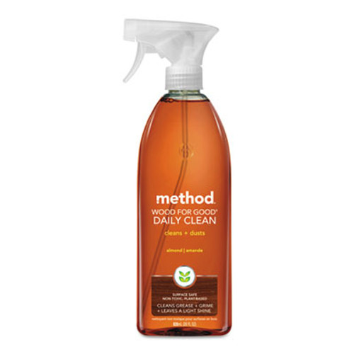 Method Wood for Good Daily Clean, 28 oz Spray Bottle, 8/Carton (MTH01182CT)