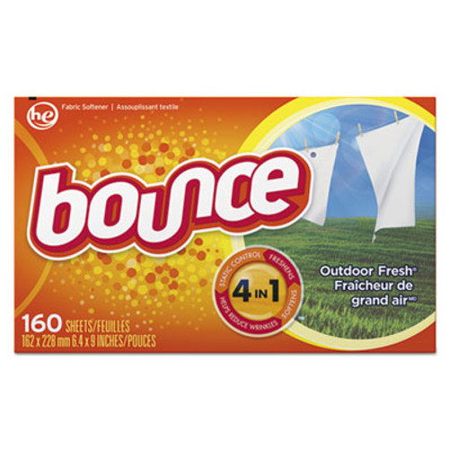 Bounce Fabric Softener Sheets, 160 Sheets/Box (PGC80168BX)