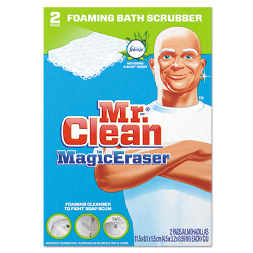 "Mr. Clean Magic Eraser Bathroom Scrubber, 4 1/2"" X 3 1/5"", 2/Box (PGC84552)"