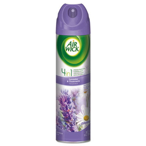 Air Wick 4 in 1 Aerosol Air Freshener, 8 oz Can, Lavender & Chamomile (RAC05762EA)