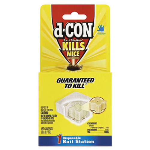 d-CON Disposable Bait Station, 3 x 3 x 1 1/4, 0.7 oz, 12/Carton (RAC89543)