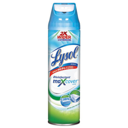 LYSOL Max Cover Disinfectant Mist, Garden After Rain, 15 oz Aerosol, 12/Carton (RAC94122)