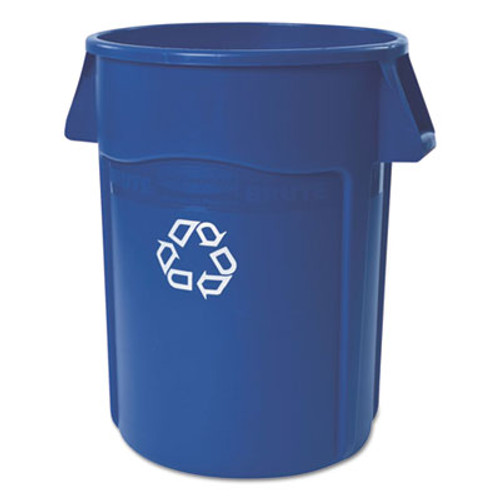 Rubbermaid Commercial Brute Recycling Container, Round, 44 gal, Blue (RCP264307BLUEA)