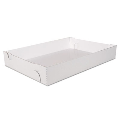 SCT Non-Window Sheet Cake Tray, Cardboard, White, 25-7/8 x 18 1/16 x 4, 25/Bundle (SCH1190)