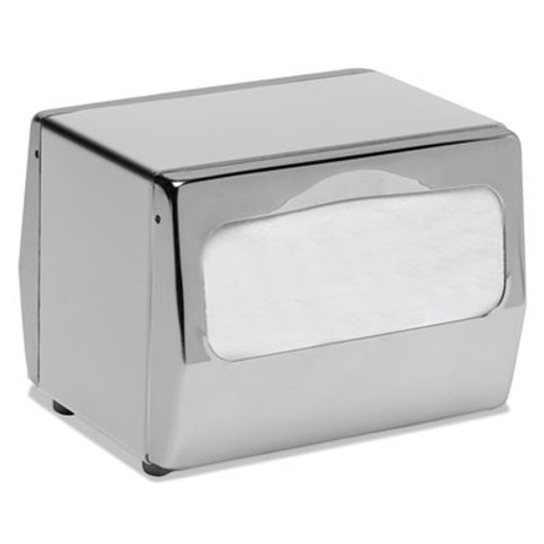 San Jamar Countertop Napkin Dispenser, 7 3/4 x 6 x 5 3/4, Chrome (SJMH4001XC)