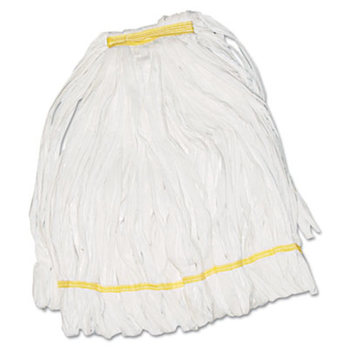 Boardwalk Mop Head, Looped, Enviro Clean With Tailband, Medium, White (UNS8002EA)