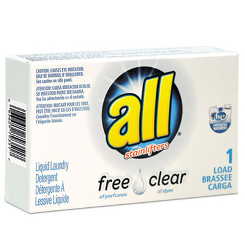 All Free Clear HE Liquid Laundry Detergent, Unscented, 1.6 oz Vend-Box, 100/Carton (VEN2979351)
