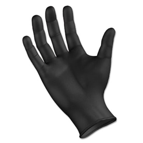 Boardwalk Disposable General Purpose Powder-Free Nitrile Gloves, L, Black, 4.4mil, 1000/Ct (BWK396LCT)