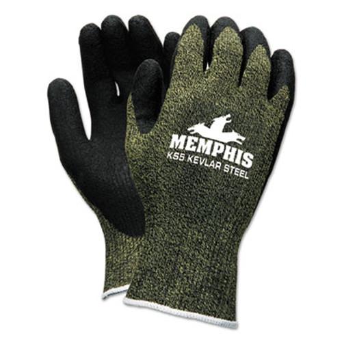 MCR Safety KS-5 Latex Dip Gloves, 13 gauge, Green Black, X-Large (CRW9389XL)