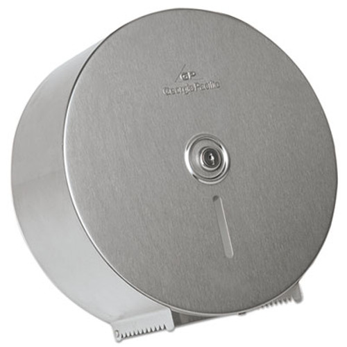 "Georgia Pacific Stainless Steel Jumbo Roll Tissue Dispenser, 14 1/4"" Diameter, 4.44""D (GPC59449)"