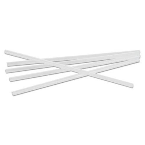 "Cardinal Straws Unwrapped Jumbo Straws, 7 3/4"", Polypropylene, White, 150/Bag, 50 Bags/Carton (CAR510008)"