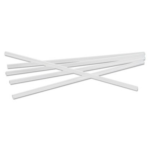 "Cardinal Straws Unwrapped Jumbo Straws, 7 3/4"", Polypropylene, White, 150/Bag, 50 Bags/Carton (CAR510008)"