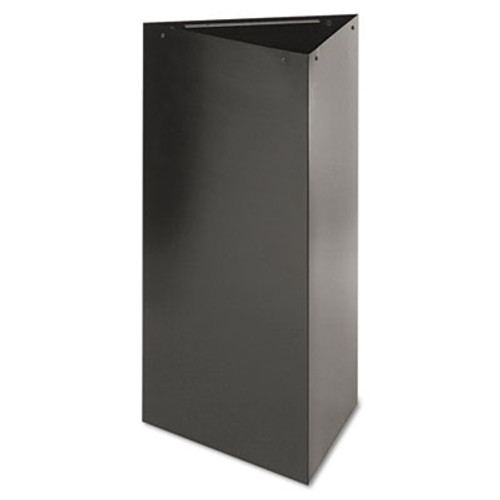 "Safco Trifecta Receptacle 34"" High Base, Triangular, 19gal, Black (SAF9552BL)"