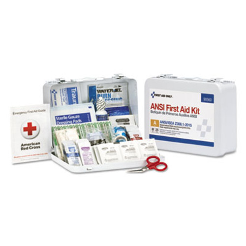 First Aid Only ANSI Class A 25 Person Bulk First Aid Kit for 25 People, 89 Pieces (FAO90560)