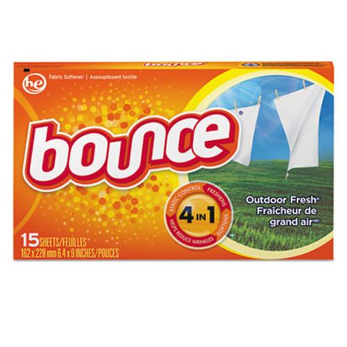 Bounce Fabric Softener Sheets, Outdoor Fresh, 15/Box, 15 Box/Carton (PGC95860CT)