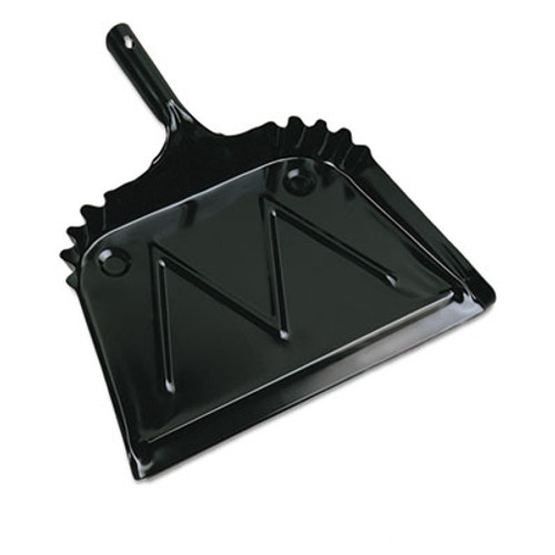 "Boardwalk Metal Dust Pan, 12"" Wide, 2"" Handle, Black (BWK04212EA)"