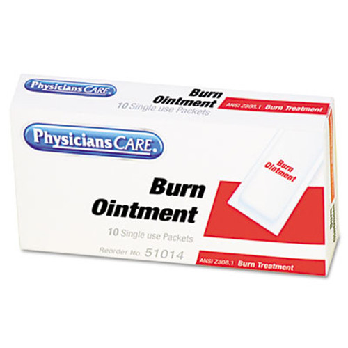 PhysiciansCare by First Aid Only First Aid Kit Refill Burn Cream Packets, 10/Box (FAO13006)