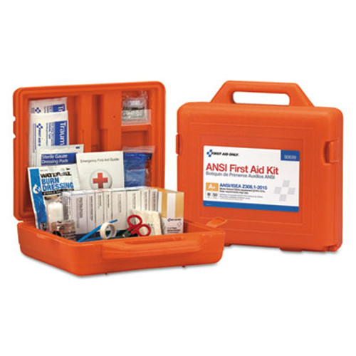 First Aid Only ANSI Class A+ First Aid Kit for 50 People, Weatherproof, 215 Pieces (FAO90699)
