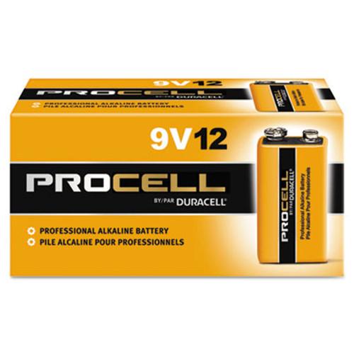 Duracell Procell Alkaline Batteries, 9V, 12/Box (DURPC1604BKD)