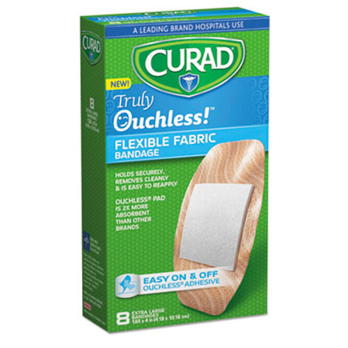 Curad Ouchless Flex Fabric Bandages, 1.65 x 4, 8/Box (MIICUR5003)