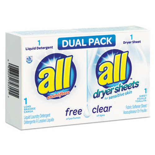 All Free Clear HE Liquid Laundry Detergent/Dryer Sheet Dual Vend Pack, 100/Ctn (VEN2979355)